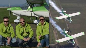 Einer der Piloten kam beim Absturz ums Leben, ein zweiter konnte sich mit dem Fallschirm in Sicherheit bringen. Der dritte Pilot war an der Kollision nicht beteiligt.