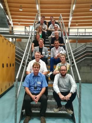 Vertreter deutsch-schweizerischer Schülerforschungseinrichtungen zu Gast im PSI (Quelle: HRK)
