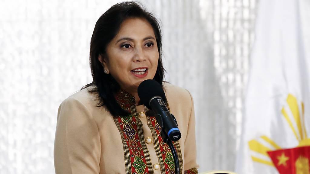 Philippinische Vizepräsidentin führt Anti-Drogen-Kampf an