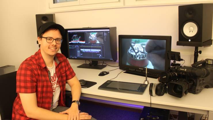 Nicolas Stucky in seinem Multimedia-Studio im Ebosa-Areal