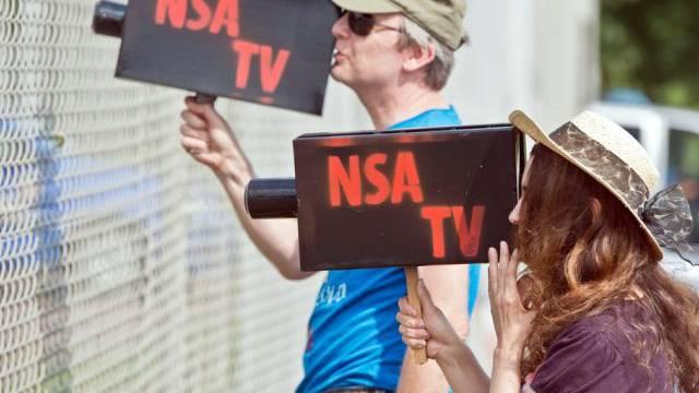 Demonstration gegen NSA-Überwachung in Deutschland (Symbolbild)