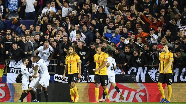 Ausgerechnet gegen YB feiert Valencia den ersten Heimsieg dieser Saison.