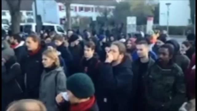 Anti-Pegida-Demo in Weil am Rhein