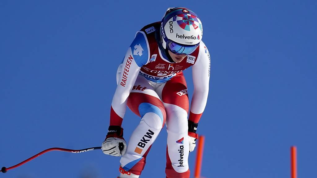 Michelle Gisin verlor im Abschlusstraining zu den Weltcup-Abfahrten in Lake Louise gut eine Sekunde auf die Bestzeit.