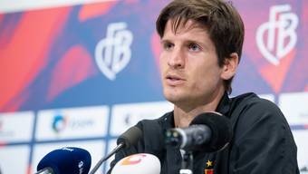 Timm Klose bei seiner Vorstellung als Spieler des FC Basel.