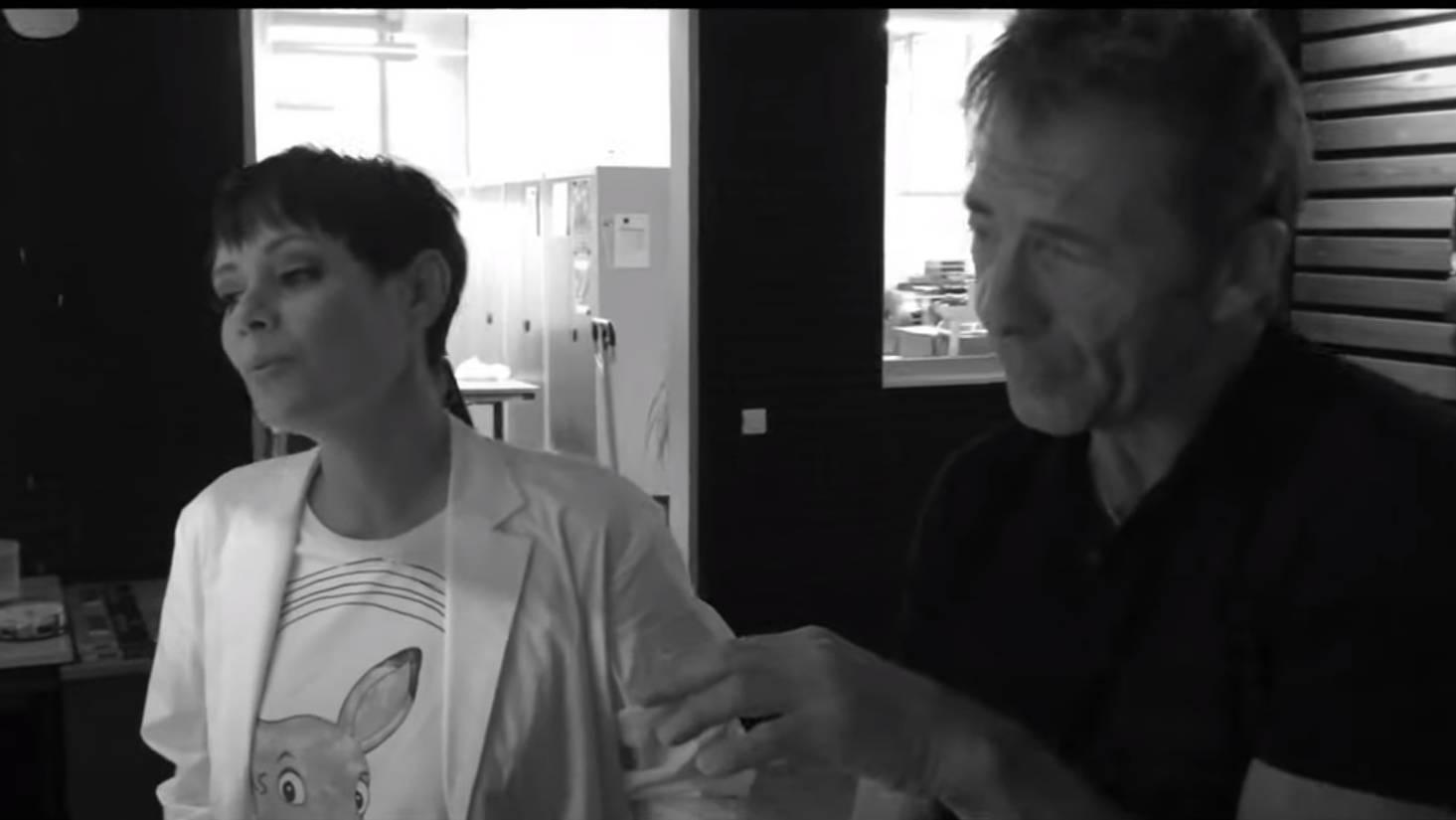 Francine Jordi & Gilbert im Studio