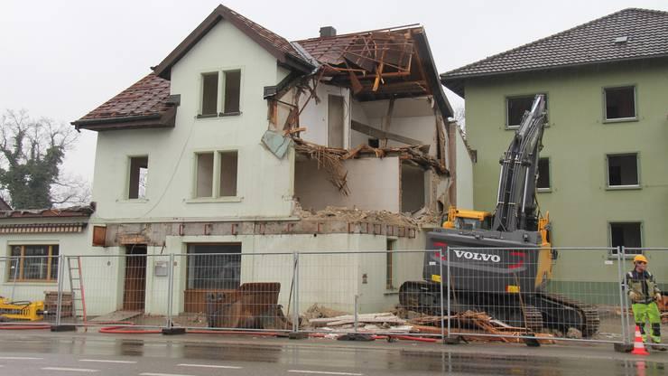 Abbruch des Restaurants Zürcherhof