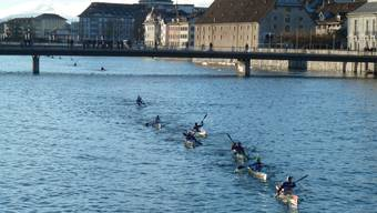 Auch in diesem Jahr messen sich die Kanuten auf der Aare in Solothurn.