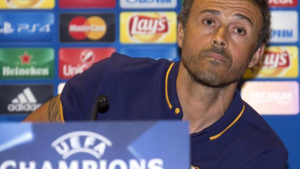 Barcelonas Coach Luis Enrique zurück an alter Trainerstätte.