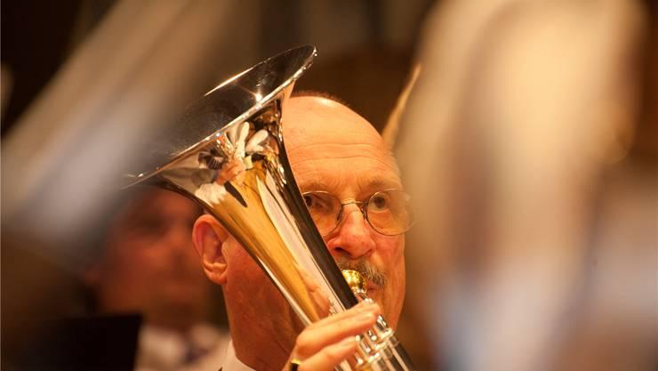 Volle Konzentration war bei den Musikern der MG Flumenthal gefragt.