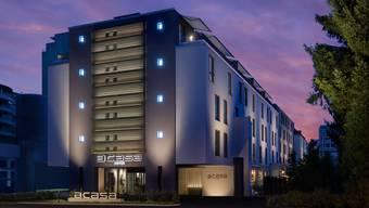 Im Acasa-Haus in Zürich Oerlikon gibt es neben einem Hotelbetrieb auch Apartmentwohnungen.