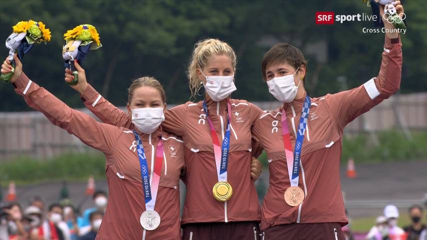 Schweiz holt Gold, Silber und Bronze im Cross-Country