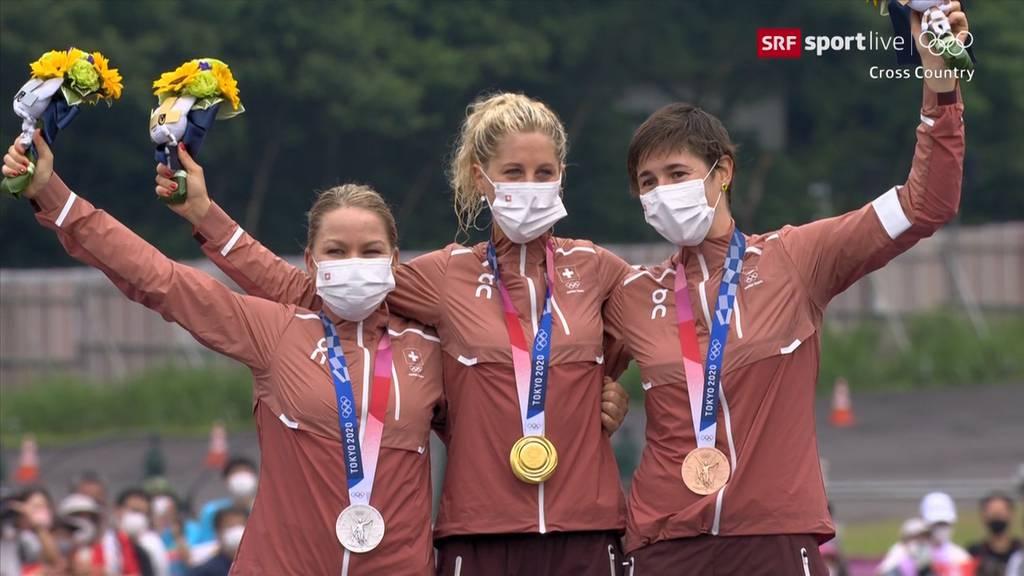 Historischer Olympia-Erfolg: Schweiz holt Gold, Silber und Bronze im Cross-Country
