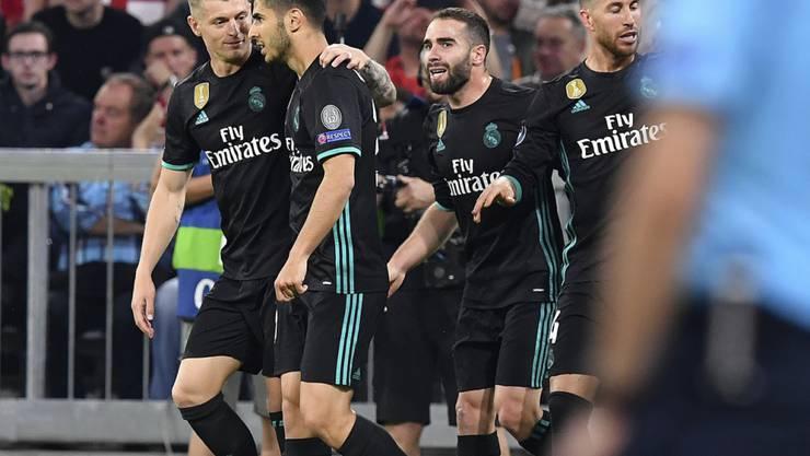 Titelverteidiger Real Madrid ist nach dem 2:1-Sieg in München in der Champions League erneut auf Finalkurs