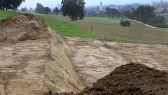 Auf dem stark schadstoffbelasteten Gebiet beim Kugelfang in Kappel sind zurzeit Untersuchungs- undSanierungsarbeiten im Gang.