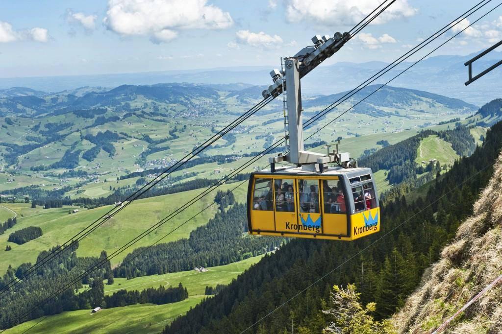 Eine solche Fahrt gibt's für eine Gruppe von 25 Personen zu gewinnen. (© Archiv Luftseilbahn Jakobsbad-Kronberg AG)