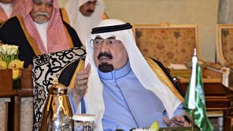 König Abdullah von Saudi-Arabien bei einer Konferenz (Symbolbild)