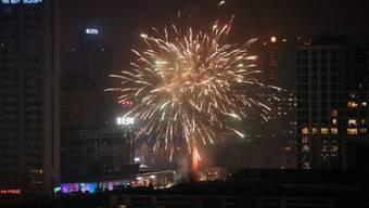 Feuerwerk in Peking zur Begrüssung des Jahres des Hahnes.