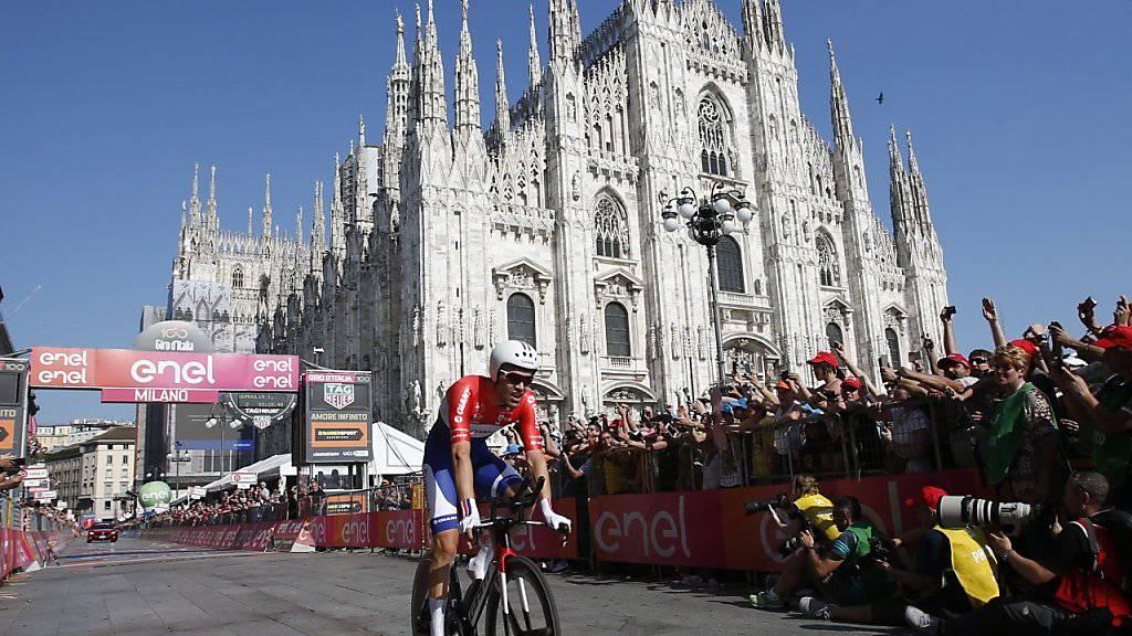 Der Giro (im Bild der diesjährige Gewinner Tom Dumoulin) startet 2018 in Israel