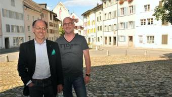 Ingenieur Matthias Schifferli und Vizeammann Stefan Zurbuchen sind überzeugt, dass sich die Attraktivität der Altstadt dank der Sanierung erhöhen wird.