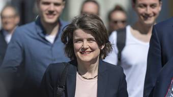 Kathrin Schweizer (SP) bei ihrer Ankunft im Regierungsgebaeude in Liestal am Sonntag, 31. Maerz 2019. (KEYSTONE/Georgios Kefalas)