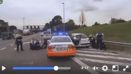 Online-Video: Die belgische Polizei auf Verfolgungsjagd