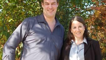 Die neu gewählte Grossrätin Tanja Suter und der wiedergewählte Christof Riner.