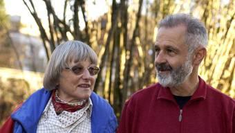 Alex Oberholzer-Lässer mit seiner Frau Lore.