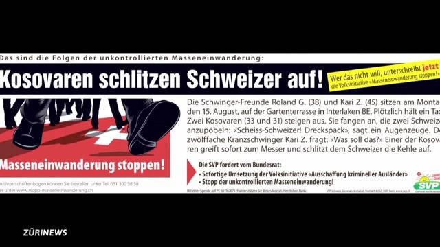 Messerschlitzer-Plakat der SVP war rassistisch