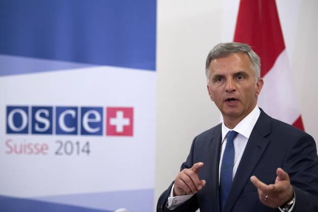 Muss vieles unter einen Hut bringen: Bundesrat Didier Burkhalter als OSZE-Vorsitzender.