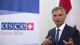 Bundesrat Didier Burkhalter als OSZE-Vorsitzender