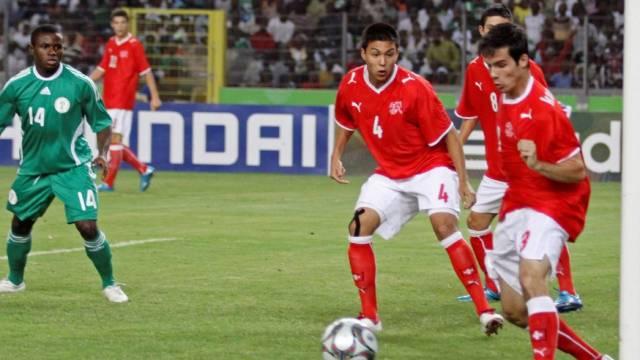 Janick Kamber klärt im WM-Final gegen Nigeria
