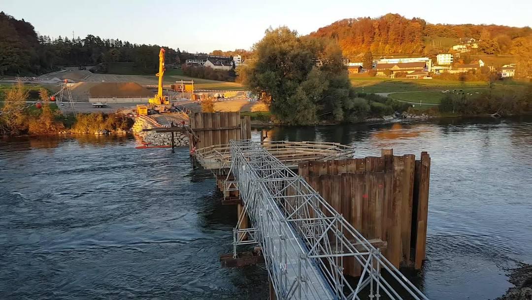 Die neue Brücke soll die Altstadt von Mellingen entlasten.