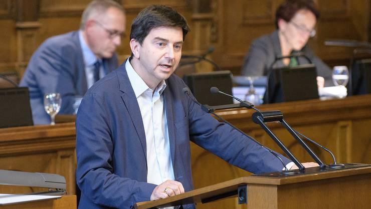 David Wüest-Rudin (GLP) konnte sich dank einer Stimme Vorsprung über den Erfolg seines Postulats freuen.