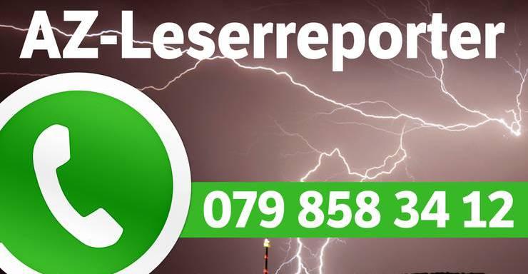 Schicken Sie uns Ihre Bilder und Videos per Whatsapp auf nachfolgende Nummer.