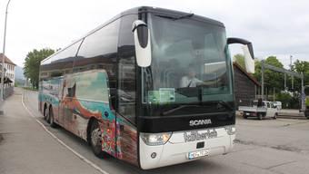 Am 10. Mai hielt erstmals ein FlixBus der Linie Frankfurt-Lyon in Grenchen.