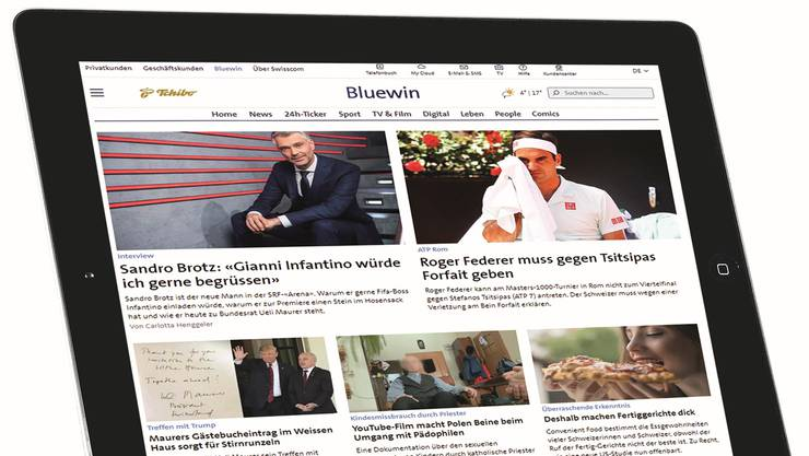 Will keine publizistische Initiative erkennen: Swisscom-Tochter Bluewin.