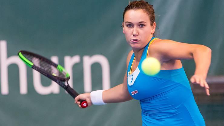 Ylena In-Albon führte die Zofinger NLB-Frauen an und holte im Doppel an der Seite von Daniela Vukovic einen Punkt.