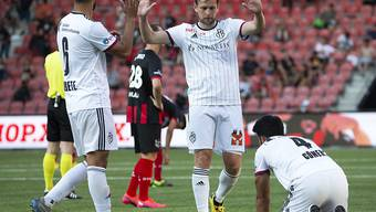 Erleichterung beim FC Basel nach dem Sieg bei Neuchâtel Xamax
