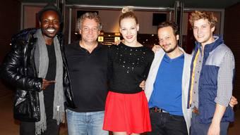 Gut gelaunt: Pueta Foschky, Marco Rima, Sira Topic, Regisseur Oliver Rihs und Matthias Britschgi