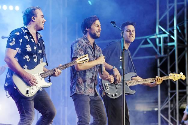 Max Giesinger und seine Band brachten gute Laune auf den Platz am Heitere Open Air 2019.
