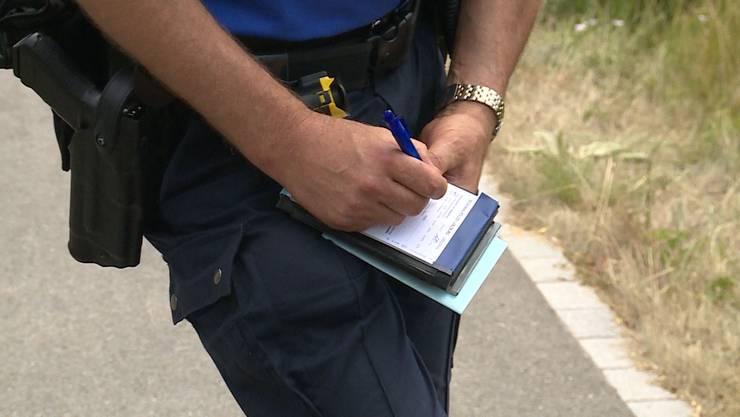 Wildparkierer werden nicht geduldet: Polizisten büssen nicht nur am Hallwilersee Autofahrer.