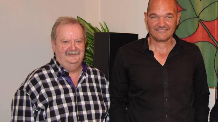 Jürg Gehriger (links) wurde für 35 Jahre als Burgerschreiber, René Misteli für 25 Jahre als Burgerkassier geehrt.