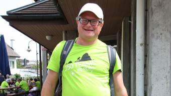 Werner De Schepper nach erfolgreichem Abschluss des 25-Stunden-Marsches