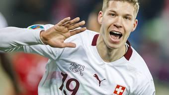 Cedric Itten, der Matchwinner gegen Georgien, stürmt gegen Gibraltar von Beginn an