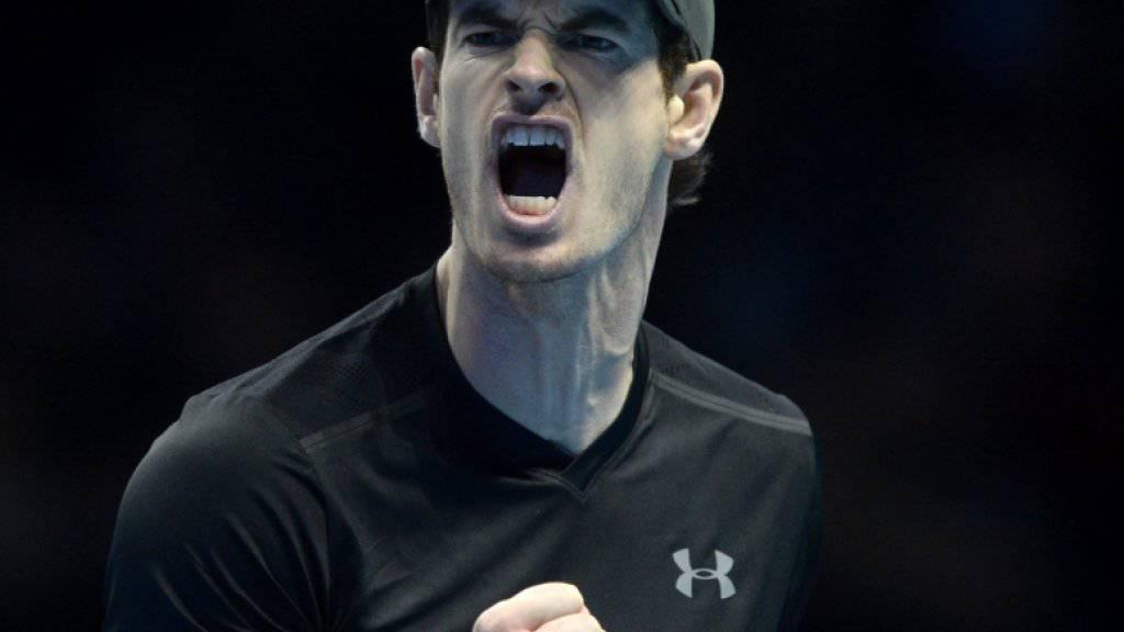 Andy Murray darf weiter hoffen, das Tennisjahr als Nummer 1 zu beenden