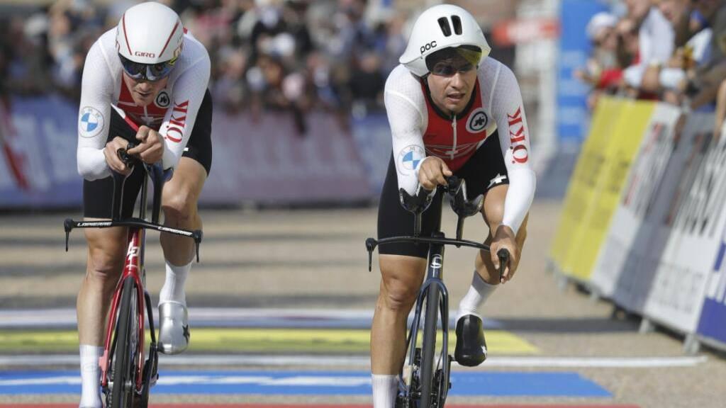 Schweizer Zeitfahrer verpassen Bronze um fünf Hundertstel