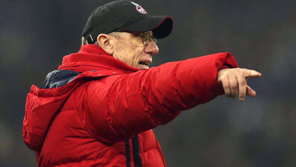 Abgang mit Misstönen: Coach Peter Stöger wurde beim 1. FC Köln am Sonntag freigestellt