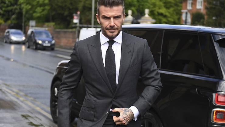 Not amused: Ex-Fussballstar David Beckham erschien am Donnerstag vor Gericht in London.
