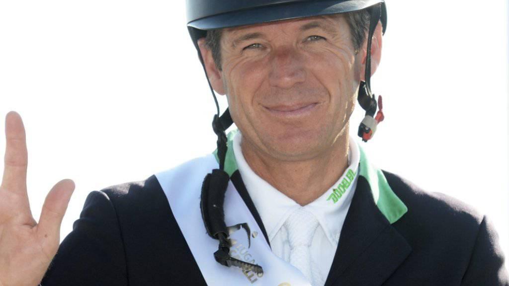 Grund zur Freude: Beat Mändli gewann das erste Weltranglisten-Springen des diesjährigen CSI Ascona